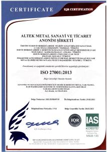 ALTEK-METAL-ISO-27001-TR