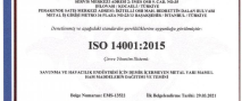 ALTEK-METAL-ISO-14001-TR